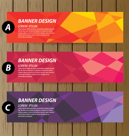 Design template banners set