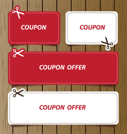 Coupon sale, offers and promotions vector template