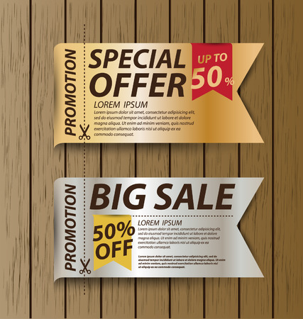 Coupon sale, offers and promotions vector template  Vector