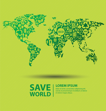 go green: Go green concept  Save world vector Illustration  Illustration