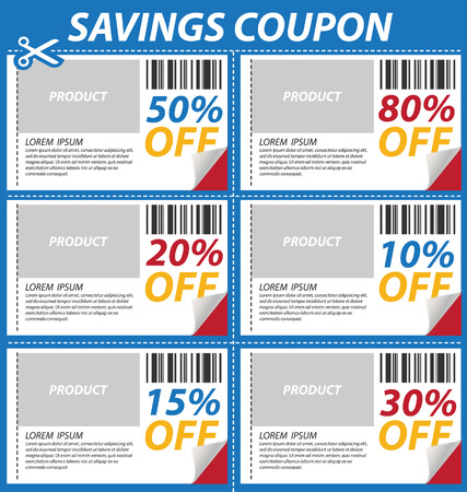 Coupon sale, offers and promotions template. Vector