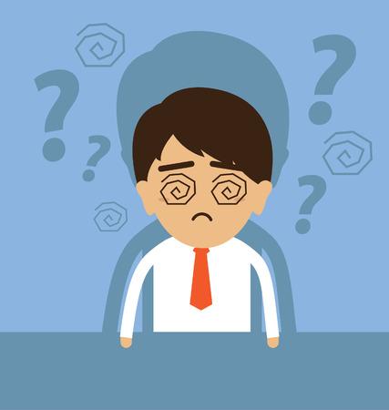 strain: Young businessman having no idea