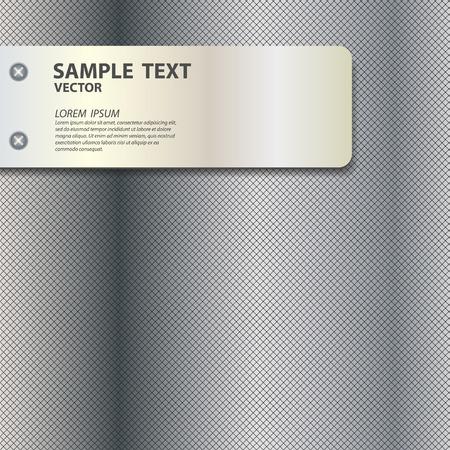 metal texture background vector illustration Vector