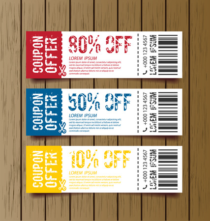 discount coupon: Coupon sale, offers and promotions template.