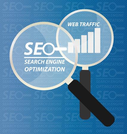 html5: search engine optimization. vector Illustration.