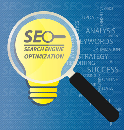 linking: search engine optimization. vector Illustration.