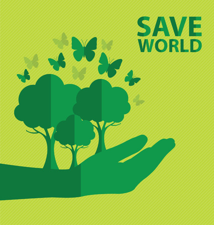 Save world vector Illustration. Vector