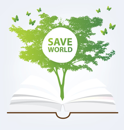 Go green concept. Save world vector Illustration. Vector