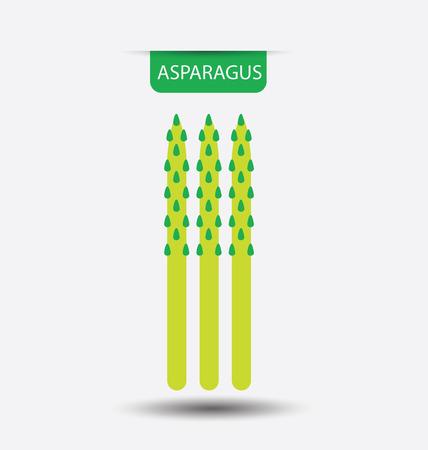 asparagus: asparagus, vegetables vector illustration