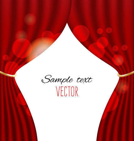 classical theater: red curtains vector background