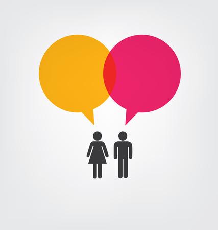 personas comunicandose: concepto de comunicaci�n. conexi�n. Ilustraci�n del vector.