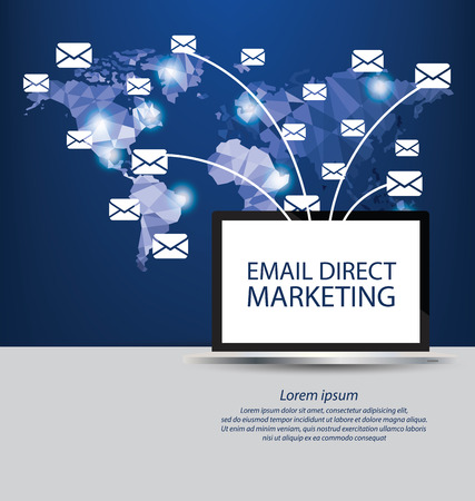 email direct marketing concept. vector Illustration.