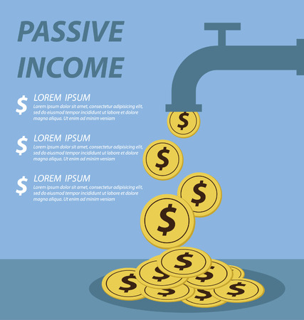 residual income: passive income concept