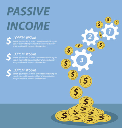 passive earnings: passive income concept