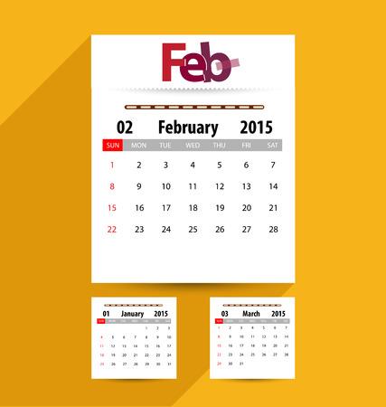 Calendar for 2015. Vector EPS10. Illustration