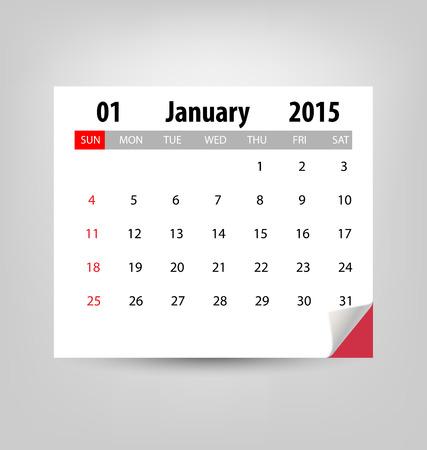 Calendar for 2015. Vector