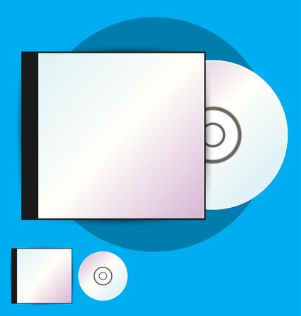 cd case: CD Case, vector illustration