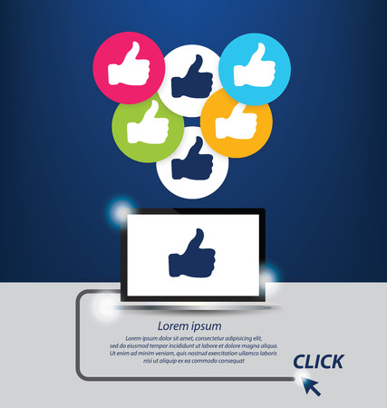 Thumb up vector. Social media concept. Vector