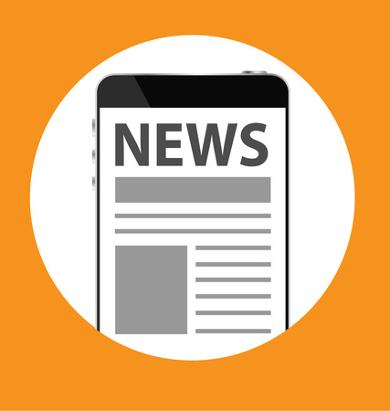 Text NEWS on screen of smartphone Vector