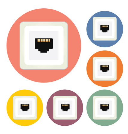 Network Socket vector illustration Illustration