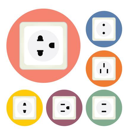 electric plug: electric plug vector illustration Illustration