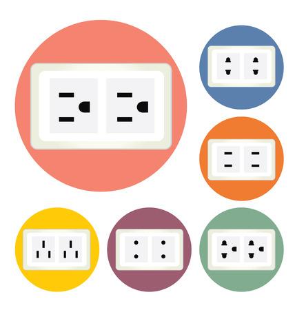 plug electric: enchufe el�ctrico ilustraci�n vectorial Vectores