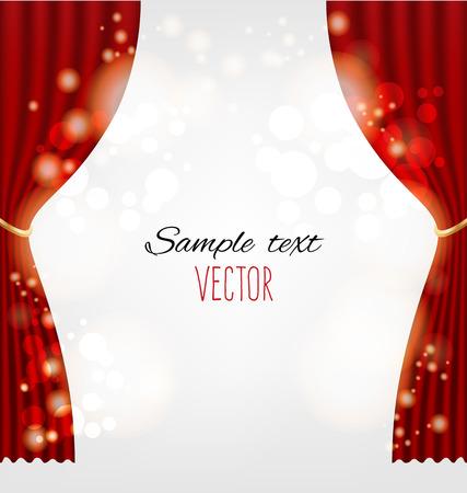 cortinas rojas: cortinas rojas de fondo vector Vectores