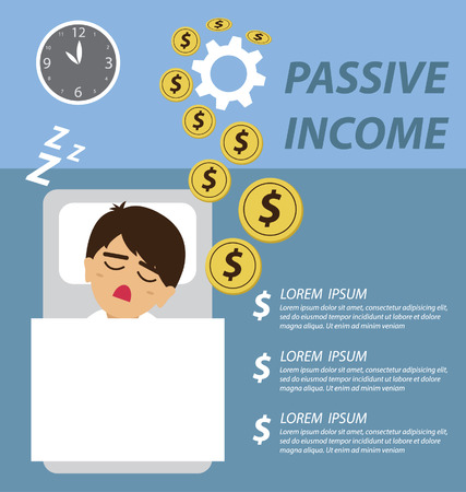 passive earnings: passive income concept