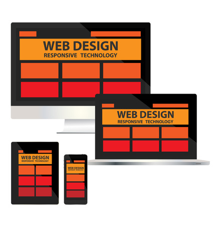 flexible business: responsive web design concept vector