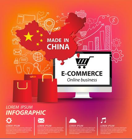 e commerce: e commerce concept vectorIllustratie