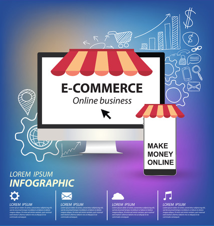 e commerce concept vector Illustration Vector