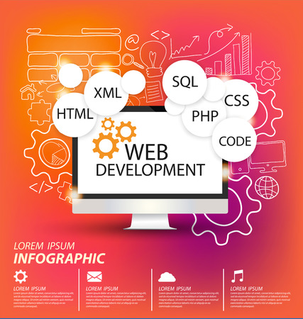 web browser: Web Development concept vector Illustration Illustration