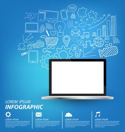 smm: Social media concept vector Illustration