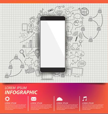 Social media concept vector Illustration Vector