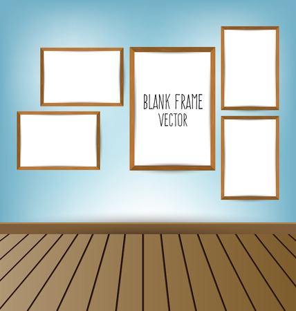 amaged: white frame on a wall and floor
