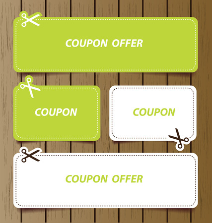 discount coupon: Coupon sale, offers and promotions vector template.