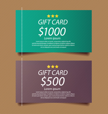 gift cards vector template Vector