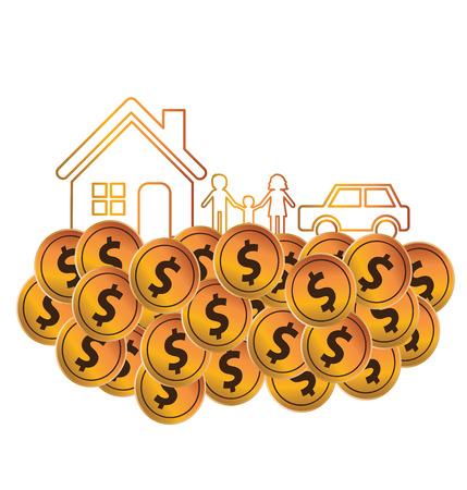 passive earnings: Save money. Financial and business concept. vector illustration. Illustration