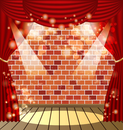 red curtains: red curtains vector background