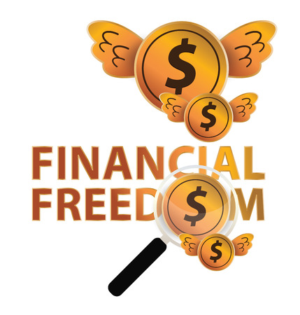 Financial freedom and business concept. vector illustration. Vector