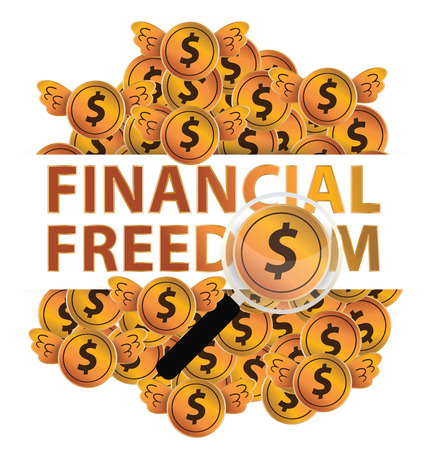 financial freedom: Financial freedom and business concept. vector illustration.