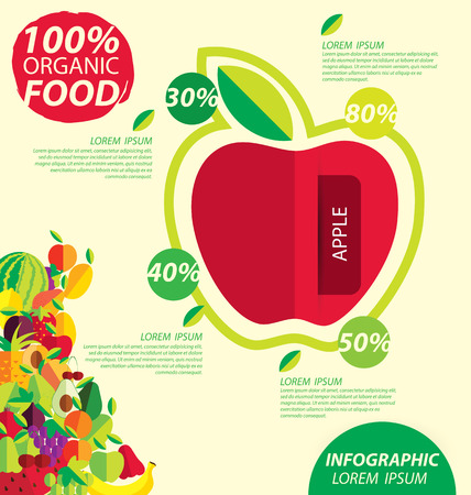 Apple, infographics. fruits vector illustration. Vector