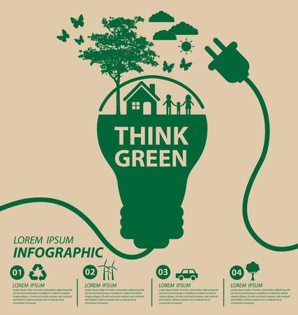 Ecology concept save world illustration.