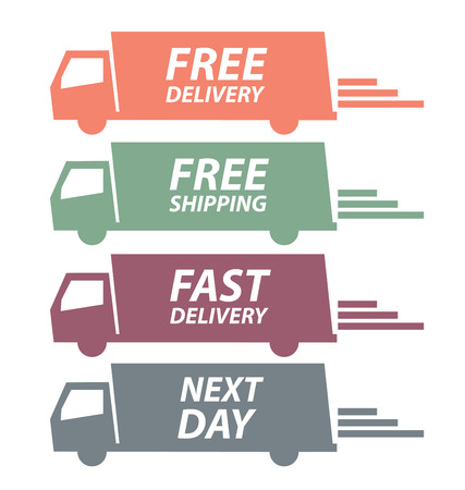 free delivery vector illustration Stok Fotoğraf - 36777492