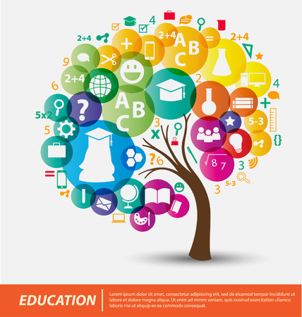 knowledge tree: Education concept vector Illustration