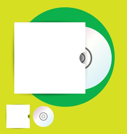 compact disk: CD Case, vector illustration