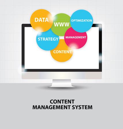 cms. content management system concept. Banco de Imagens - 36783530