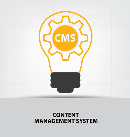 cms: cms. content management system concept.