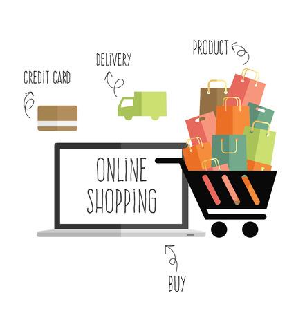 vecteur d'achats en ligne Vecteurs