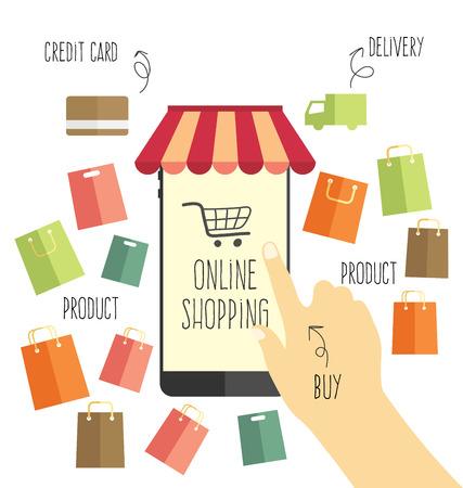 online shopping vector Vector